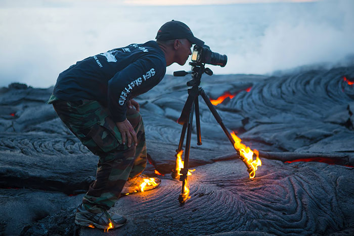 Fotógrafos Volcán