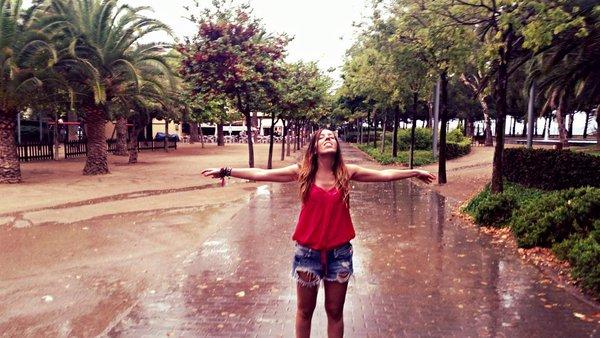 Judit Endrino lluvia viajar en cambrils
