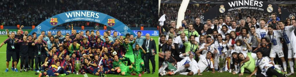 Champions Madrid 2014 Barcelona 2015