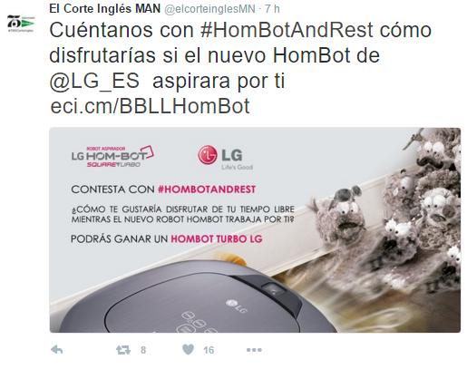 Hom bot LG sorteo El Corte Inglés