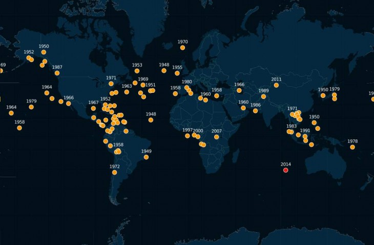 Mapa online con todos los aviones desaparecidos en la historia