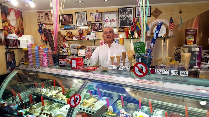 Roma en familia, un buen helado