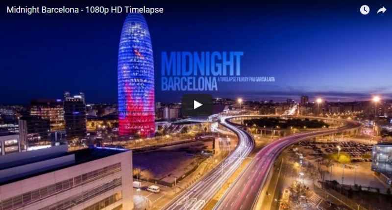 time-lapse barcelona