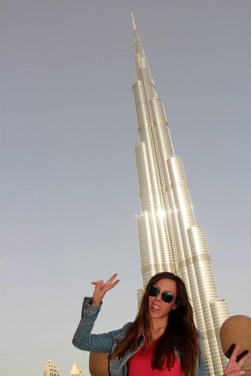 Dubai Burj Khalifa desde Fountain