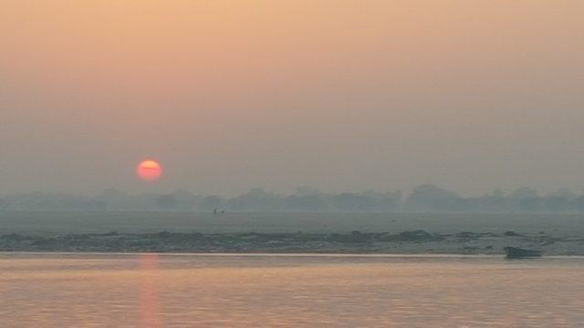 India Amanecer en Varanasi