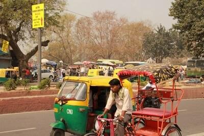 Nuestro Viaje a la India Nueva Delhi: Rickshaw