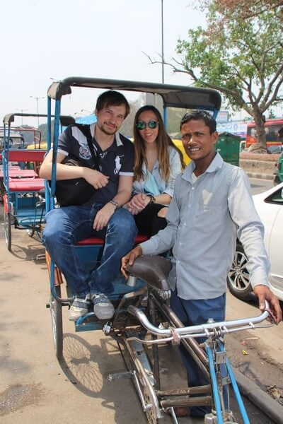 Nuestro Viaje a la India Nueva Delhi: paseo Rickshaw