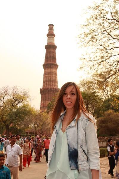Nuestro Viaje a la India Nueva Delhi: Minarete de Qutab