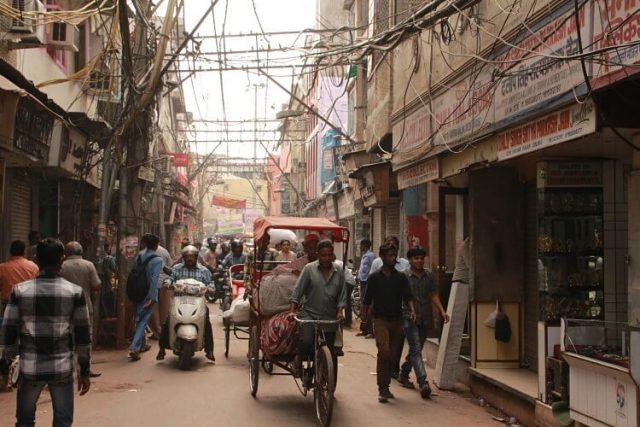 Viajar a la India: Calle en Nueva Delhi