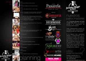 Programa I Jornada Blogger de Moda de Ciudad Real