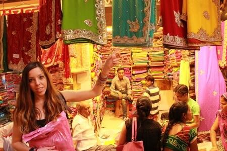 Bazar de Jaipur: comprando Sari