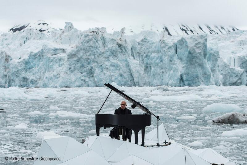 Ludovico Einaudi greenpeace. Elegia por el ártico