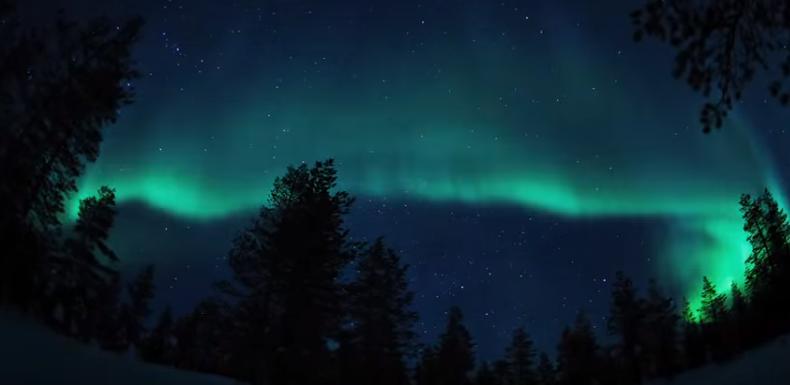 Impresionante vídeo de Aurora Boreal en Finlandia