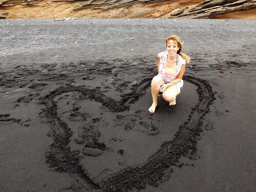 Playas de arena negra en Lanzarote