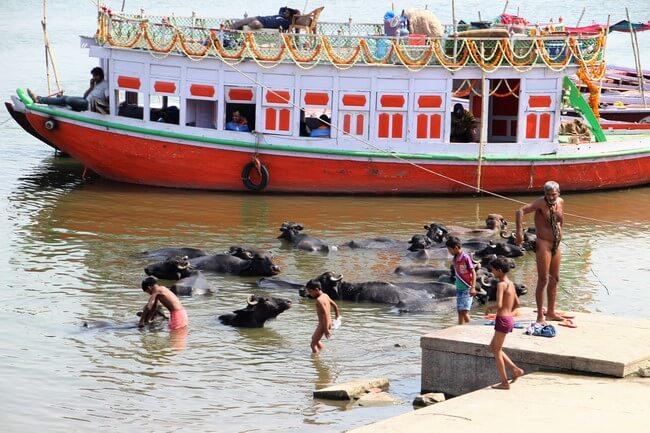 Baños en el Ganges