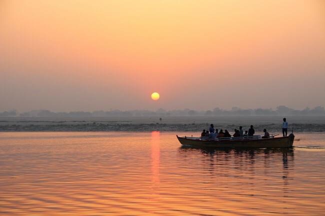 Puesta de sol Ganges