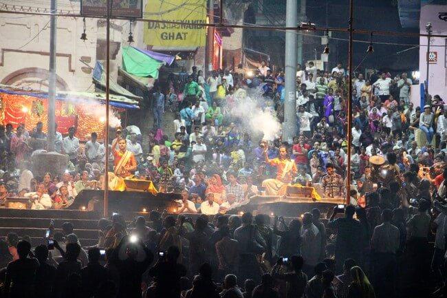 Aarti, ceremonia Ganges Varanasi