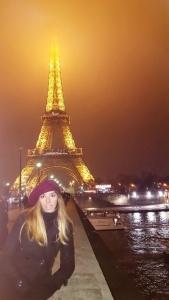 Viaje a Paris, judit torre eiffel de noche