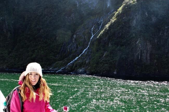 nuestra luna de miel en el crucero en Milford Sound