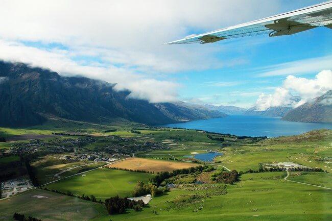 Volando a Milford Sound. Vistas impresionantes