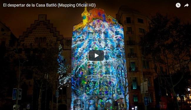 Espectacular mapping en la Casa Batlló de Barcelona