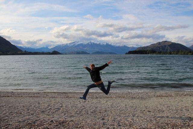 Wanaka, saltando en Nueva Zelanda