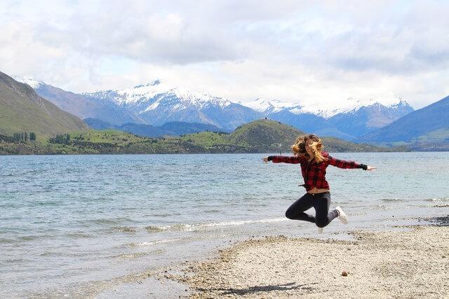 Judit en Lake Wanaka