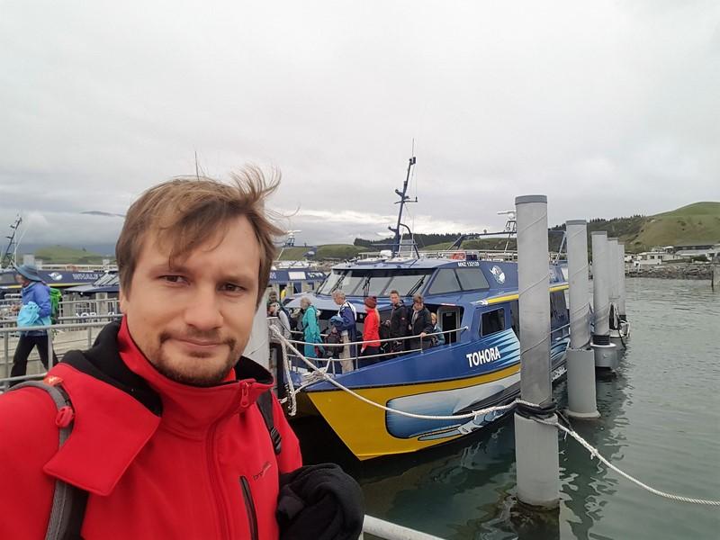 Whale watch Kaikoura barco Nueva Zelanda