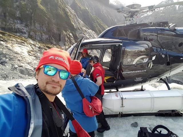 Franz Josef glacier helicoptero