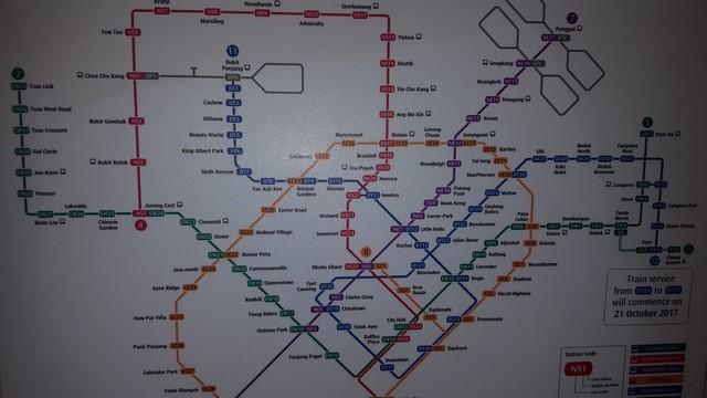 Mapa del metro de Singapur
