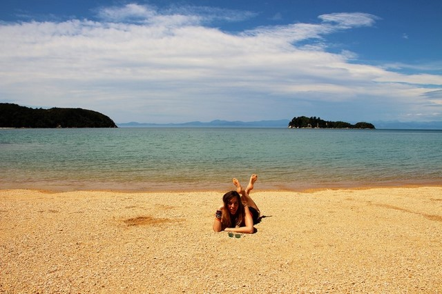 Playa Abel Tasman Nueva Zelanda