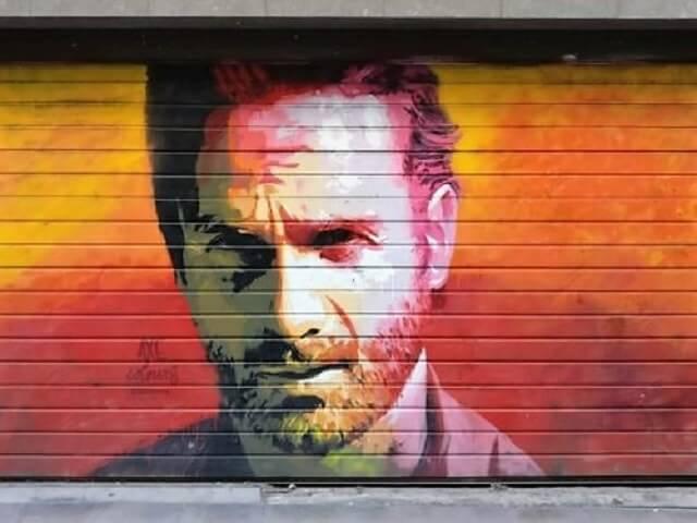 Que ver en Barcelona: Grafiti Rick Grimes