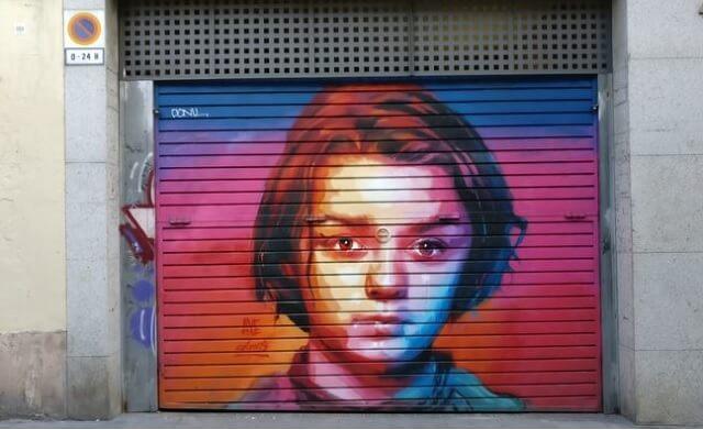 Grafiti original Aria Stark Barcelona
