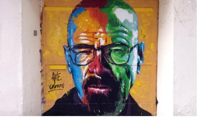 Que ver en Gracias Barcelona: Grafiti original Walter White