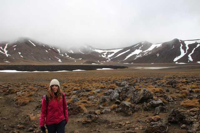 Tongariro Alpine Crossing camino a Ketetahi Shelter