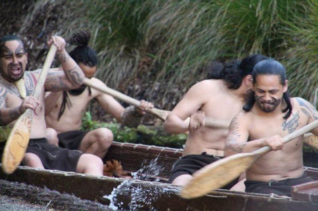 Poblado Tamaki, llegada guerreros