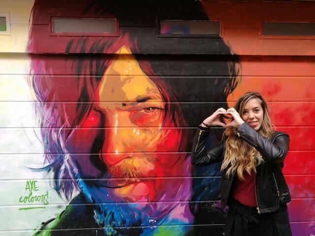 Que ver en Barcelona: grafiti Norman Reedus