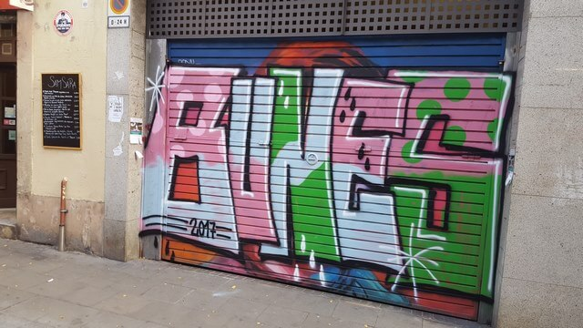 Grafitis Barcelona: Aria Stark