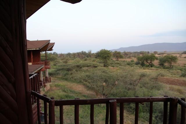 Samburu Simba Lodge vistas desde la habitación