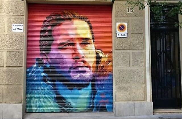 Plan en Barcelona: grafiti Jon Snow