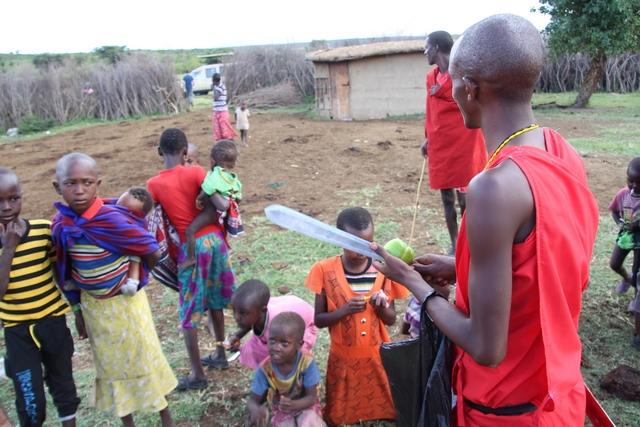 Entrada al poblado de la tribu masai