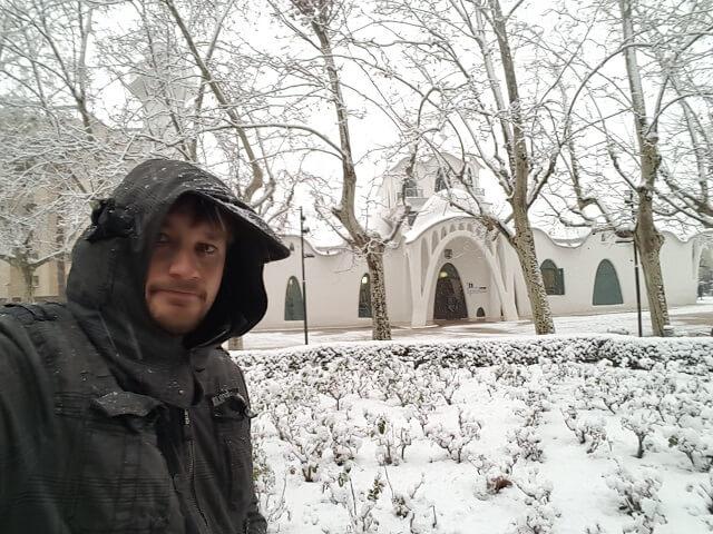 Masia freixa de terrassa en un d a de nevadas - Masias en terrassa ...