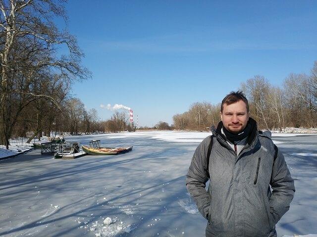 Lago helado Jardines Wilanow