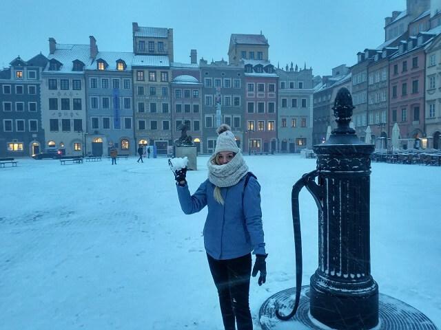 Plaza del Mercado nevada