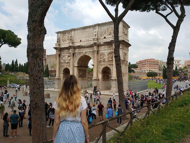 Arco Constantino, cerca del Coliseo
