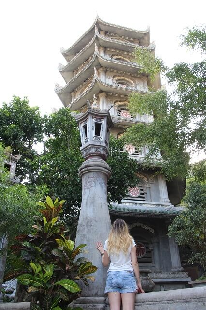 Pagoda montañas de mármol, viaje vietnam