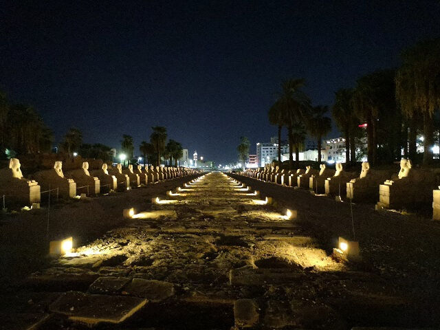 Avenida de las Esfinges en Luxor