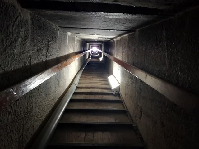 Entrada pirámide roja Egipto
