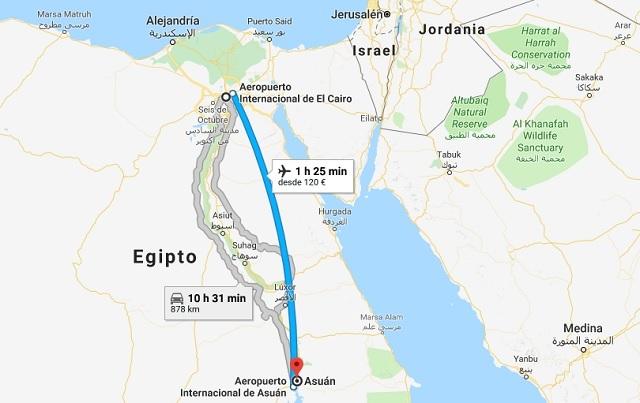 Viaje de EL Cairo a Aswan