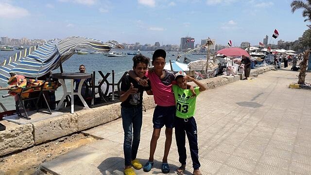 Paseo marítimo de Alejandria, Egipto